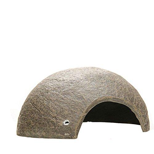 omem Mini reptil cueva Natural Gecko cabaña casa de corteza de coco resina Made