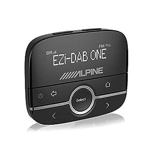 Alpine EZI-DAB-GO Autoradio, digital, Schwarz, tragbares Radio(für Auto, digital, DAB, DAB+, 87,6-107,9MHz, 174-240MHz, LCD)