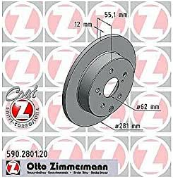 ZIMMERMANN 590.2801.20Bremsscheibe, hinten, Coat Z