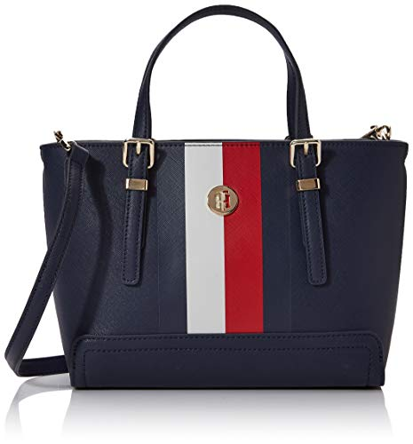 Tommy Hilfiger Honey Small Tote Corp, Sacs bandoulière femme, Blanc (Corporate),