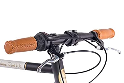 CHRISSON 28 Zoll Retro Rennrad Vintage Bike - Vintage Road N3 schwarz mit 3 Gang Shimano Nexus Nabenschaltung, Urban Old School Fahrrad für Damen und Herren