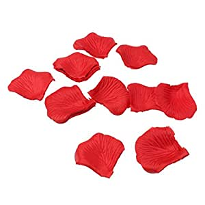 Electomania® 300pcs Fabric Rose Petals Flower Favors Party Decoration (Red)