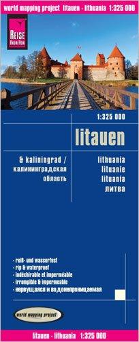 Reise Know-How Landkarte Litauen und Kaliningrad (1:325.000): world mapping project