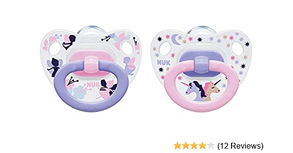 Pack 2 NUK Happy Days Pink Silicone Soothers Size 2