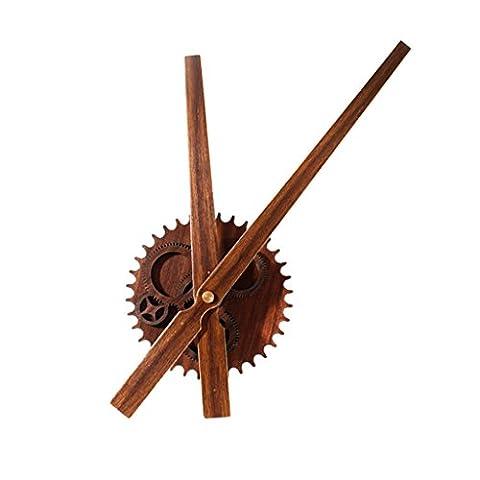 Jingzou Pointer, horloges murales, métal, bois, créativité, rétro, bricolage, engrenages, horloge bricolage