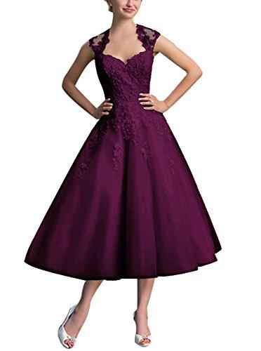 Find Dress Elégant Robe Vintage d'Audrey Hepburn Année 50s Rockabilly Swing pour fête Noel Noble Robe de Gala Soirée Grande Taille pour Femme Ronde Dentelle Qualité Raisin