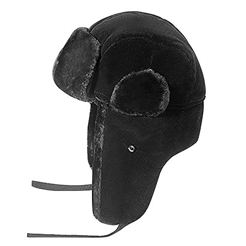 Zxcvb Winter Trooper Trapper Hat Ushanka Russian Ear Flap Aviator Hat con  máscara Que se reúne Todo el Pelo al Aire Libre Lei Feng Hat Orejeras  (Color