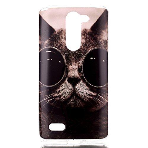 LG Bello Bumper Case,TPU Silicona Funda Carcasa para LG L Bello D335 D331 Bumper Case Cover[Not for LG Bello II]-Gato con gafas