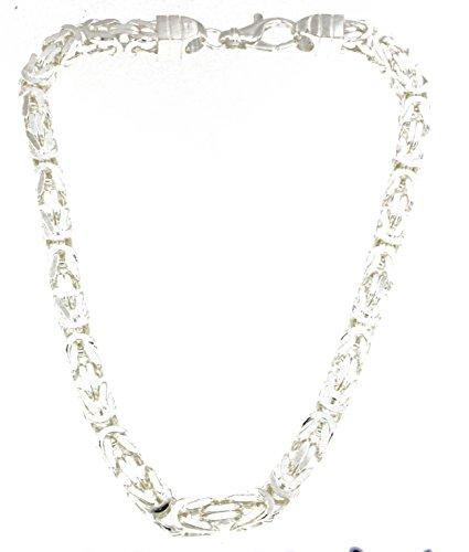 Königskette 925 Silber 8 mm 55 cm Silberkette Halskette Damen Herren Anhängerkette Schmuck ab Fabrik tendenze Italy D-BZ8-55v (Italienische Silber Herren-armband)