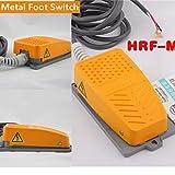 Mioke Interrupteur à pédale Industriel Métal - 250V 15A - Commutateur de pied avec...