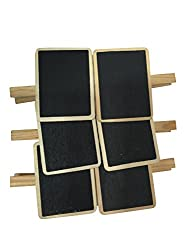 EZ Life Chalkboard Clips Set of 6 Pcs- Wooden Finish
