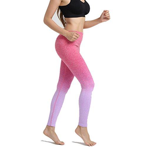 Laixing 4 Color Women's Sports Pants Yoga Guêtres Workout Pant Running Pant purple