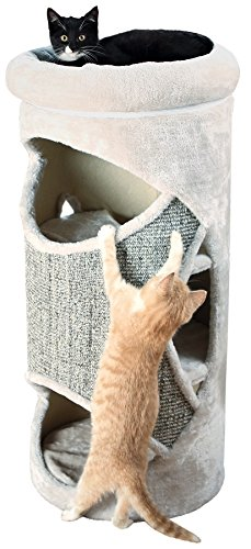 Trixie Cat Tower Gracia, 85 cm, lichtgrau/grau-meliert