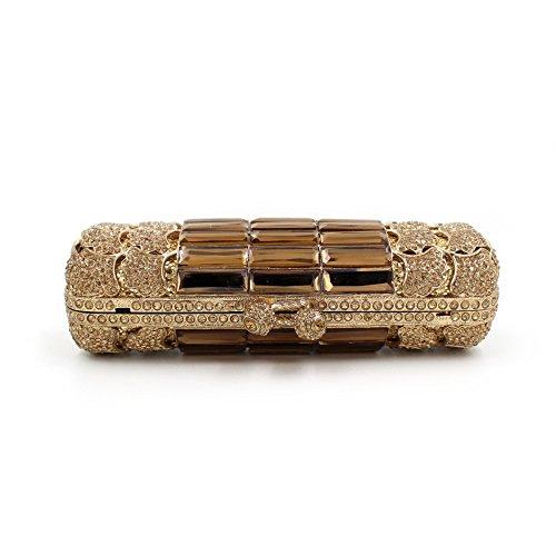 Dinner-Paket Europa und den Vereinigten Staaten Stil Kristall voller Diamanten Hand Paket Gold Gold