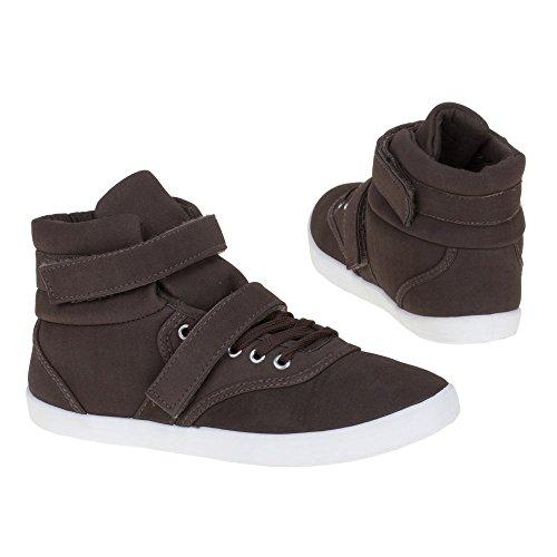 Isotoner, 3587B, tempo libero scarpe Dunkelbraun