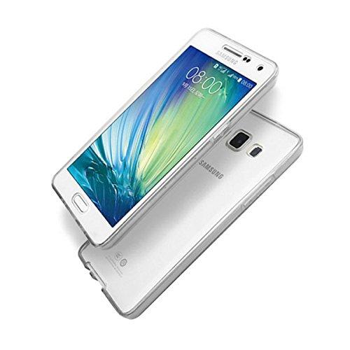 TPU Full Body 360 ° Transparent Cover Apple iPhone 6 6s Hülle Case Schale Handy Tasche Schutz Etui Bumper (iPhone 6 6s, Farblos) Farblos