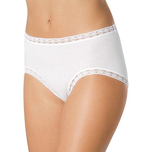 SPEIDEL Damen Maxislip mit Spitze 5er Pack - Basic 9389 Baumwolle+Elasthan, Farbe Weiss, Gr. 40-50 Weiß
