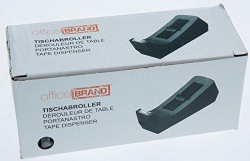 officeBRAND Tischabroller schwarz ungefüllt,für Klebefilm bis 19mmx33m