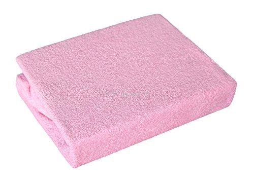 Frotteebezug für Wickeltischauflage, Bezug für Wickelauflage in 6 farblichen Varianten und 2 Größen (50x70 cm, 005 Rosa)
