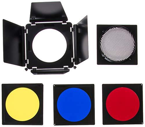 Sp Systeme Excalibur (Fotodiox 11-U-Barndoor Universal Abschirmklappen Satz mit Wabengitter, Farbgele, Reflektor für SP-Systeme, Excalibur Blitzlicht Schwarz)