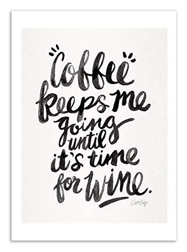 Art-Poster Coffee and Wine Cat Muschel