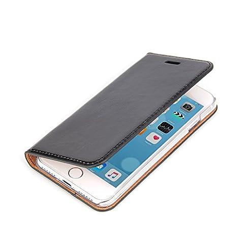 iPhone 7 Schutzhülle - ECHTES LEDER HANDGEFERTIGT - edel flach sicherer Rundumschutz in Handarbeit hergestellt von Twoways - Farbe