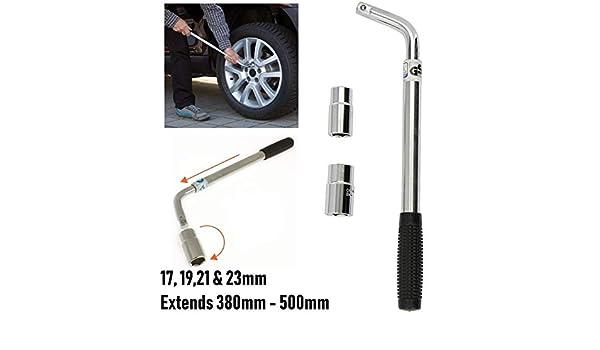 UKB4C Extendable Wheel Telescopic Car Van Brace 17 19 21 23mm Socket Tyre Nut Wrench Volvo XC90 V60 V90 XC40 XC60