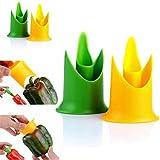 VWH Entkerner für Paprika, Obst, Gemüse, Küchenzubehör., plastik, gelb