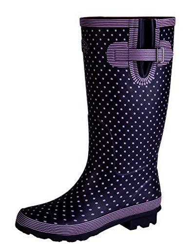 Stormwells Ladies Wide Fitting Leg Rubber Wellington Boots