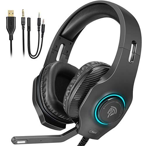 PS4 Headset, EasySMX Gaming Headset, Wired Gaming-Kopfhörer