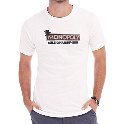 Millionaires Cluv Monopoly Tycoon Board Game Money Rich Herren T-Shirt Weiß