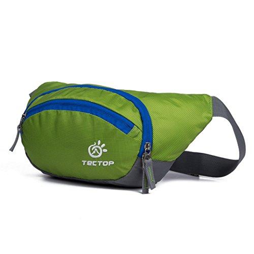 TECTOP Outdoor Tasche Oxford Tuch Reisetasche Herren Gürteltasche Travel Bag Wasserdicht Unisex Damen Beuteltasche Sport - Grün Grün