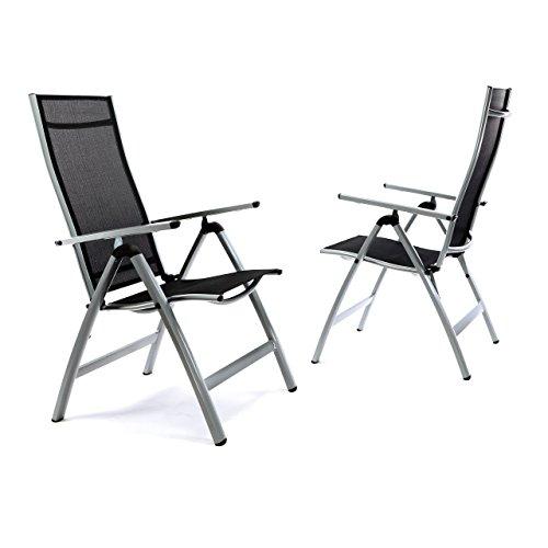 2er Set Deluxe Alu Stuhl Extrabreit Klappstuhl Gartenstuhl