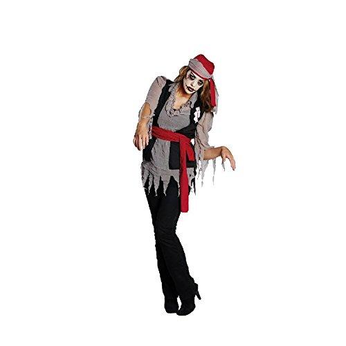 Zombie Piratin Damen Kostüm Zombiekostüm zu Halloween Gr.48