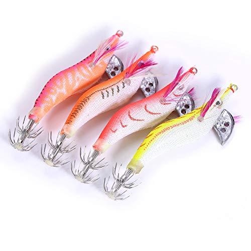 Alomejor 4pcs Lumineux crevettes Leurres de pêche...