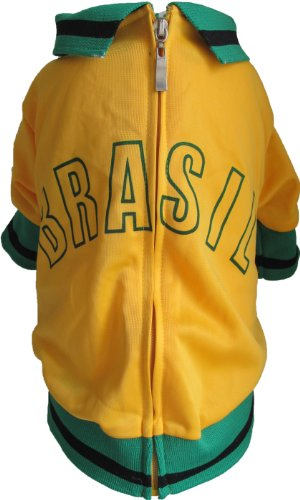 The Mutley Collection Brasil Trainingsjacke für Hunde, zum Aufwärmen, l