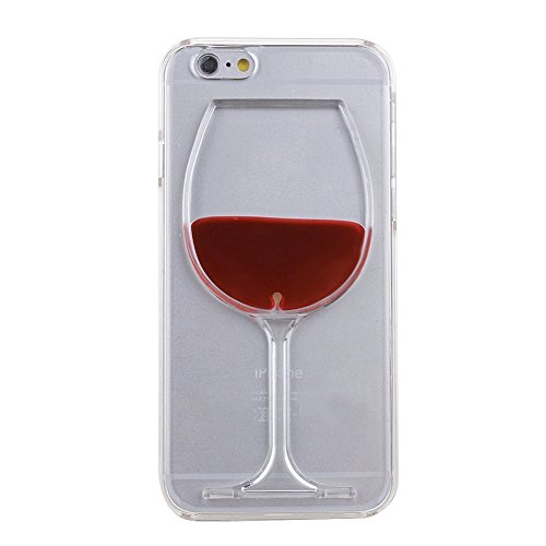 iPhone 6 Plus 6s Plus Custodia Case Cover, Greendimension® Flowing Liquido Ordinario Cristallo Vino Rosso Bicchiere Dura Plastica Case Cover Per iPhone 6 Plus 6s Plus 5,5 Pollici (Rosso)