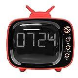 Kafuty Accueil Radio en Forme de Bluetooth Regarder la télévision Réveil Audio Double Haut-Parleur sans Fil Haute qualité Portable Haut-Parleur Bluetooth Radio rétro(Rouge)