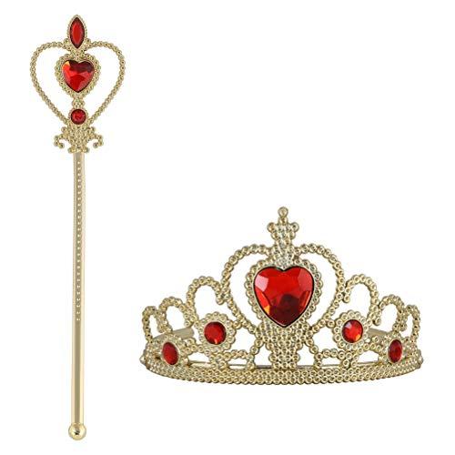 Vicloon Princess Dress Up Zubehör: Krone, Zepter. Cosplay, ()