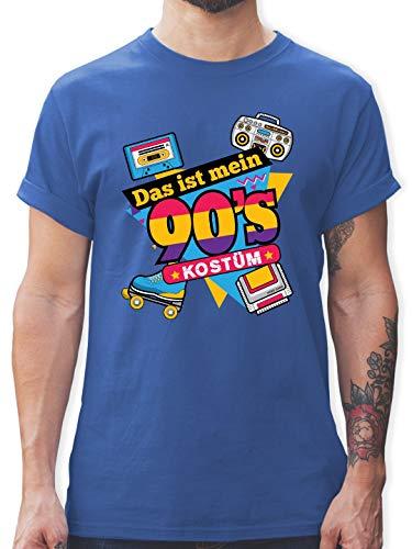 Karneval & Fasching - Das ist Mein 90er Jahre Kostüm - 3XL - Royalblau - L190 - Herren T-Shirt Rundhals