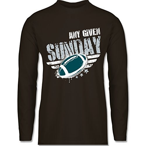 Shirtracer American Football - any Given Sunday Football Philadelphia - Herren Langarmshirt Braun