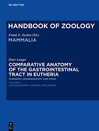 Comparative Anatomy of the Gastrointestinal Tract in Eutheria II: Taxonomy, Biogeography and Food. Laurasiatheria (English Edition)
