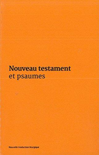 Nouveau Testament et Psaumes : Couverture vinyle orange