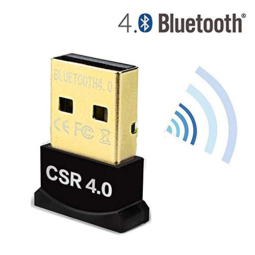 San qing Steckbarer USB Bluetooth 4.0 Low Energy Micro Adapter (Windows 10, 8.1, 8, 7, Raspberry Pi; Kompatibel mit Kopfhörern, Tastatur, Maus),Black