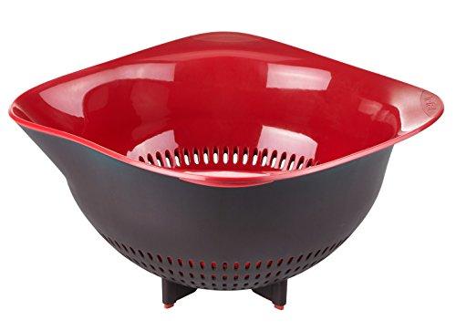 Tefal K2070614 Ingenio Passoire plastique Design ustensile de cuisine noir et rouge sans bisphénol A
