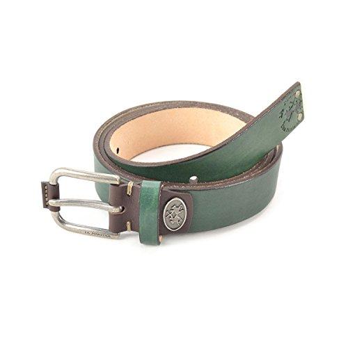 Cintura uomo in pelle La Martina Col. Verde scuro - L53PM023B914071