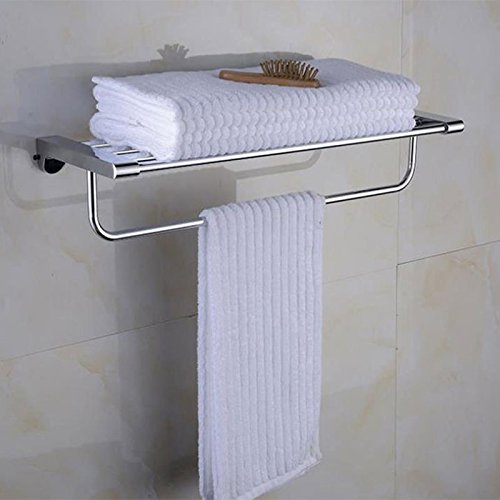 Yomiokla Bad-Zubehör - Küche, WC, Balkon und Bad Metall Handtuchring Kit Kit Edelstahl-Regal Hotel Bar (Regal-kit Hotel)
