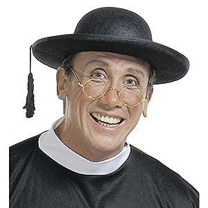WIDMANN Black Felt Priests Hat Priest Vicar Vicars Cap Fancy Dress (gorro/sombrero)