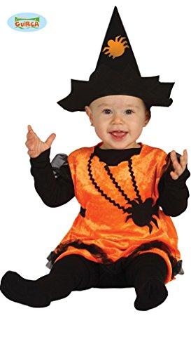 Hexen Kürbis Kostüm Gr. 86-104, Größe:98/104 (Toys'r'halloween Kostüme)