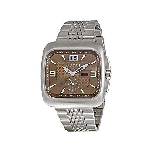 Gucci G-Coupe YA131301 40 Silver Steel Bracelet & Case Men's Quartz Watch